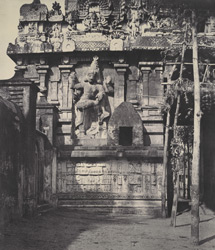 Sculptured figure on the entrance tower of the Great Pagoda [Brihadishvara Temple, Thanjavur]